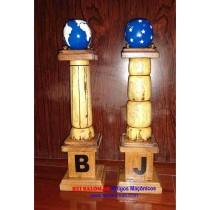 Colunetas B e J com 33 cm