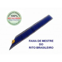 Faixal de Mestre Maçom do Rito Brasileiro-sem jóia