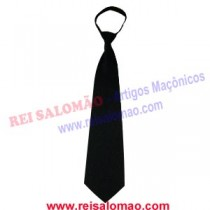 Gravata Preta com Bordado em preto e com nó