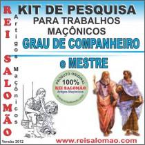 Kit Graus II e III Maçom