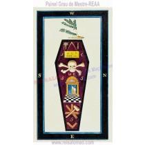 Painel Simbólico do Grau de Mestre - REAA - MOD. I