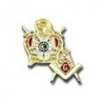 Pin Demolay com Esquadro e Compasso