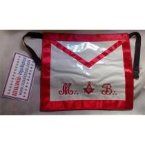 Avental de Mestre MB com esq/comp Vermelho