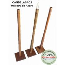 Candelabros Maçonaria de Madeira  com 1M
