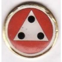 Pin Redondo com Triângulo 3 Pontos 352