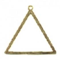 Jóia Triângulo do Mestre Cerimonias Dourada
