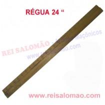 """Régua 24"""" em Madeira Maçonaria"""