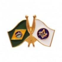 Pin Bandeiras Brasil Esquadro e Compasso